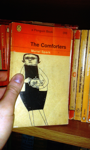 The Comforters by Muriel Spark; Penguin Paperback 1911; 1963 edition, illustration by Terrence Greer