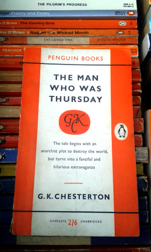The Man Who Was Thursday by G K Chesterton; Penguin Paperback 95; 1954 edition