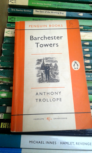 The Barchester Towers by Anthony Trollope; Penguin Paperback 1180; 1959 edition